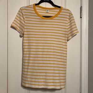 Old Navy Yellow and White Striped Tee!